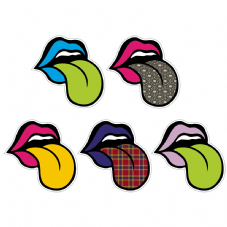 Pop Art Lips And Tongue Vinyl Stickers